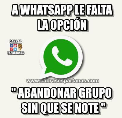 whatsapp opcion indispensable
