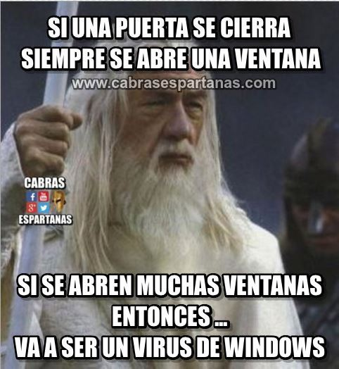 Virus de windows va a ser eso