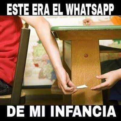 Whatsapp antiguo de mi infancia