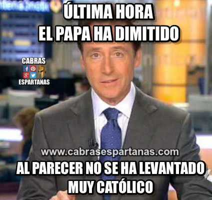 Papa ultimas noticas ha dimitido